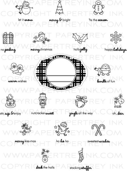 Tiny Treats Christmas Stamp Set Papertrey Ink Clear