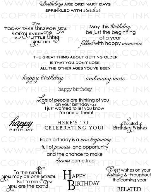 Inside amp Out Birthday Stamp Set Papertrey Ink Clear