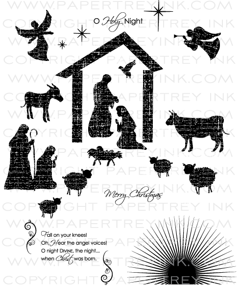 Nativity Silhouettes Stamp Set: Papertrey Ink Clear Stamps Dies Paper ...