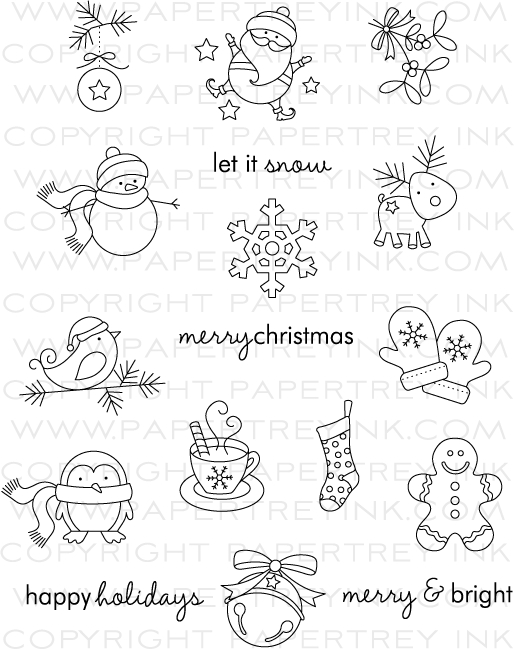 tremendous treats  christmas stamp set  papertrey ink