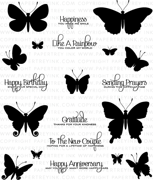 Butterfly Stamp Fashion Design Images