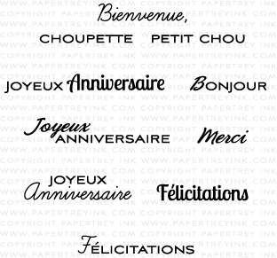 Global Greetings: French Mini Stamp Set: Papertrey Ink Clear ...