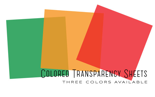 Colored Transparency Sheets - Orange Zest (6 sheets): Papertrey Ink ...