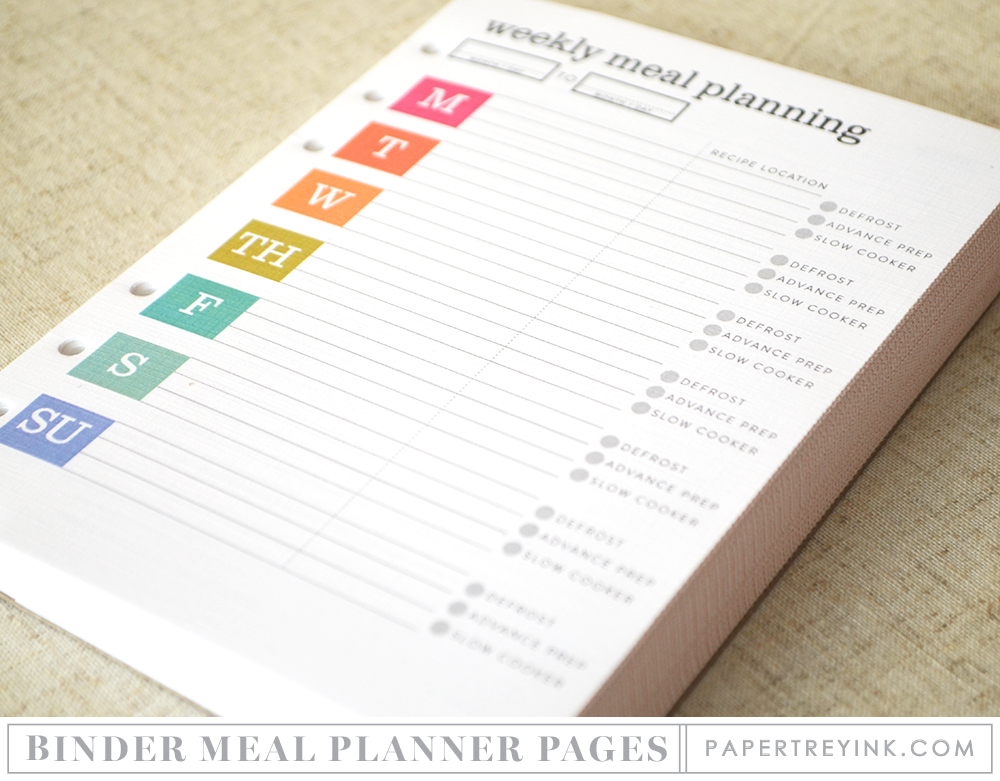moments inked meal planner binder edition papertrey ink clear
