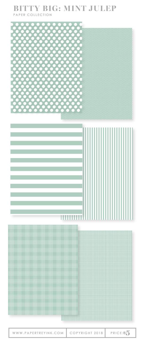 Bitty Big: Mint Julep Color Collection (24 sheets): Papertrey Ink ...