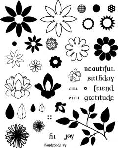 The Vault - Beautiful Blooms Stamp Set