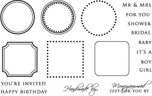 The Vault - Borders & Corners Monogram Edition Stamp Set