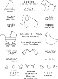 Bitty Baby Blessings Stamp Set