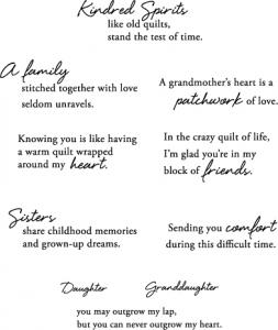 Quilter's Sampler Sentiments Stamp Set