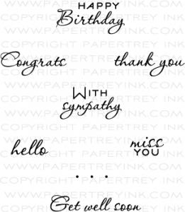 Papertrey Ink Communique Sentiments Mini Stamp Set