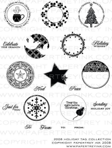 2008 Holiday Tag Collection Stamp Set