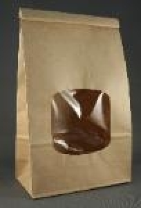 Large Kraft Window Coffee Bags 5 Per Package Papertrey
