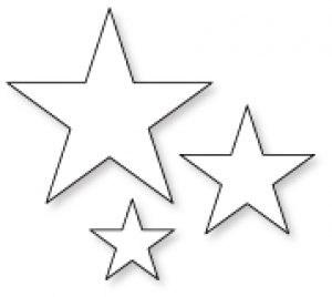 Papertrey Ink Seeing Stars Die Collection set Of 3