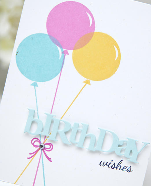 wonderful words birthday mini stamp set papertrey ink clear stamps