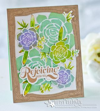 Papertrey Ink - Bold & Beautiful Die: Papertrey Ink Clear Stamps
