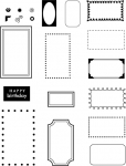 Borders & Corners {Rectangle} Stamp Set