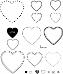 The Vault - Borders & Corners {Heart} Stamp Set