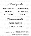 The Vault - Warm Hospitality Mini Stamp Set