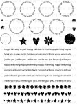 The Vault - Around & About Sentiments Stamp Set