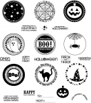The Vault - 2009 Halloween Tags Stamp Set