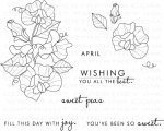 Year of Flowers: Sweet Peas Stamp Set