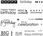 Birthday Bash Sentiments Stamp Set