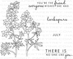 Year of Flowers: Larkspurs Stamp Set
