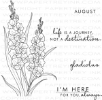 Year of Flowers: Gladiolus Stamp Set