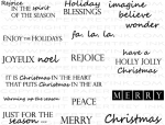 The Vault - Holiday Spirit Sentiments Stamp Set