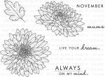 Year of Flowers: Mums Stamp Set