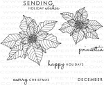 Year of Flowers: Poinsettias Stamp Set