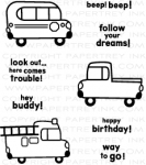 Boy Basics: Truckin' It Mini Stamp Set