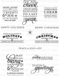 Stylish Sentiments: Holiday Stamp Set