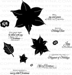 Christmas Poinsettia Stamp Set