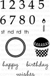 Birthdays by the Numbers Stamp Set