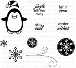 Winter Penguin Mini Stamp Set
