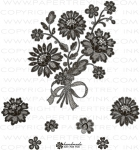 Lace Bouquet Stamp Set