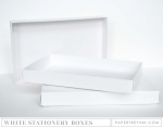 Basic White Stationery Box (2 per package)