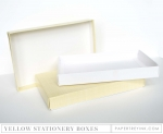 Pale Yellow Stationery Box (2 per package)