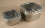 8 oz. Square Clear Top Tin