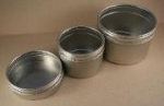 2.5 oz. Round Clear Top Tin (3 per package)