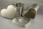 Small Heart Tin - 4 oz. (3 per package)