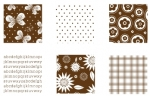 "Chocolate Remix Patterned Paper 6""X6"" (36 sheets)"