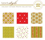 "Holiday Vintage Prints Patterned Paper 8""X8"" (36 sheets)"