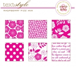 "Raspberry Fizz Mix Patterned Paper 8""X8"" (36 sheets)"
