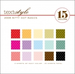 "2008 Bitty Dot Basics Patterned Paper 8""X8"" (45 sheets)"