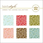 "Green Tea Leaves Patterned Paper 8""X8"" (36 sheets)"