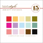 "2008 Bitty Star Basics Patterned Paper 8""X8"" (45 sheets)"