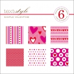 "Simple Valentine Patterned Paper 8""X8"" (36 sheets)"