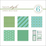 "Green Boutique Patterned Paper 8""X8"" (36 sheets)"